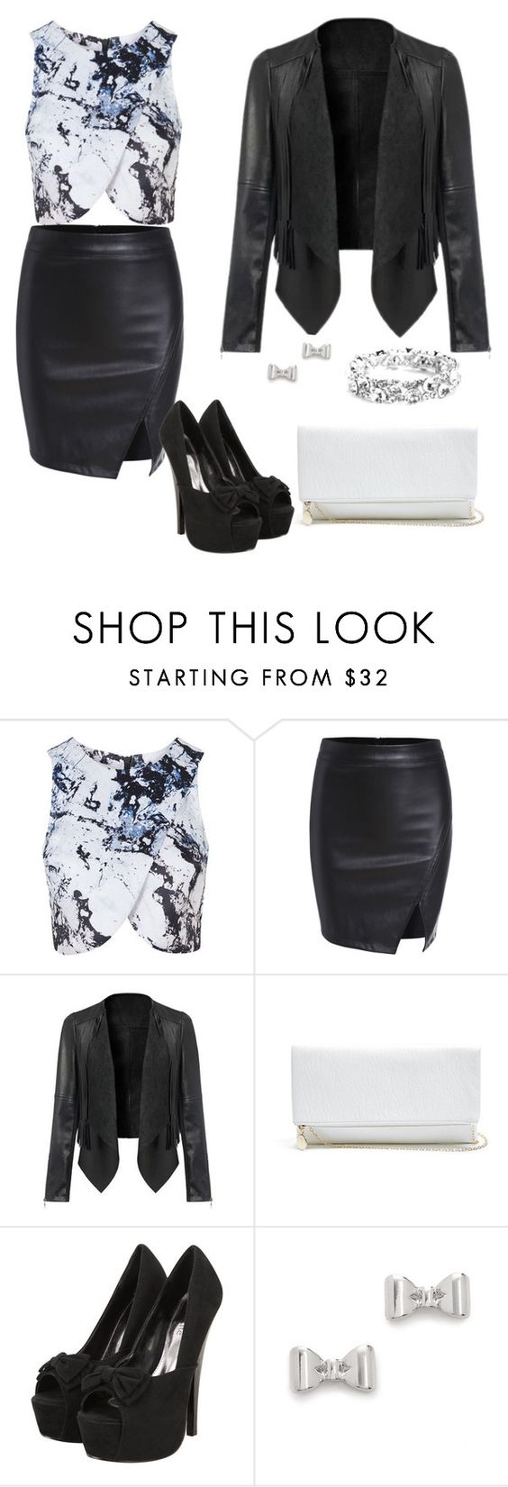 """Outwear#79"" by elusiin ❤ liked on Polyvore featuring Topshop, GUESS and Marc by Marc Jacobs"