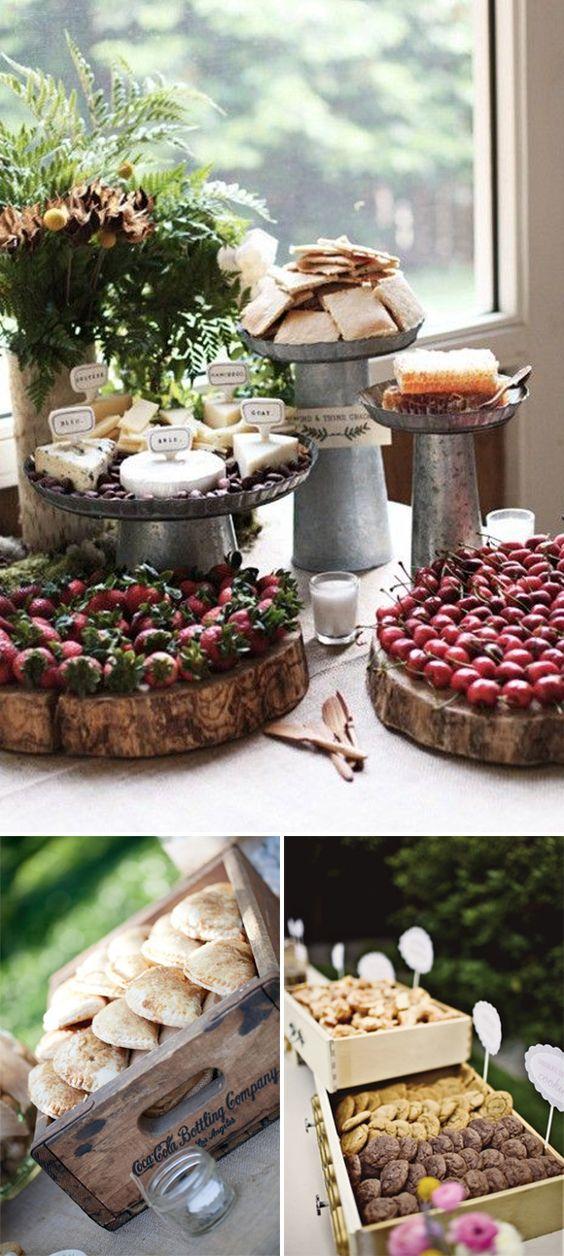 Ideas originales para presentar la comida en las bodas - Comodas originales ...