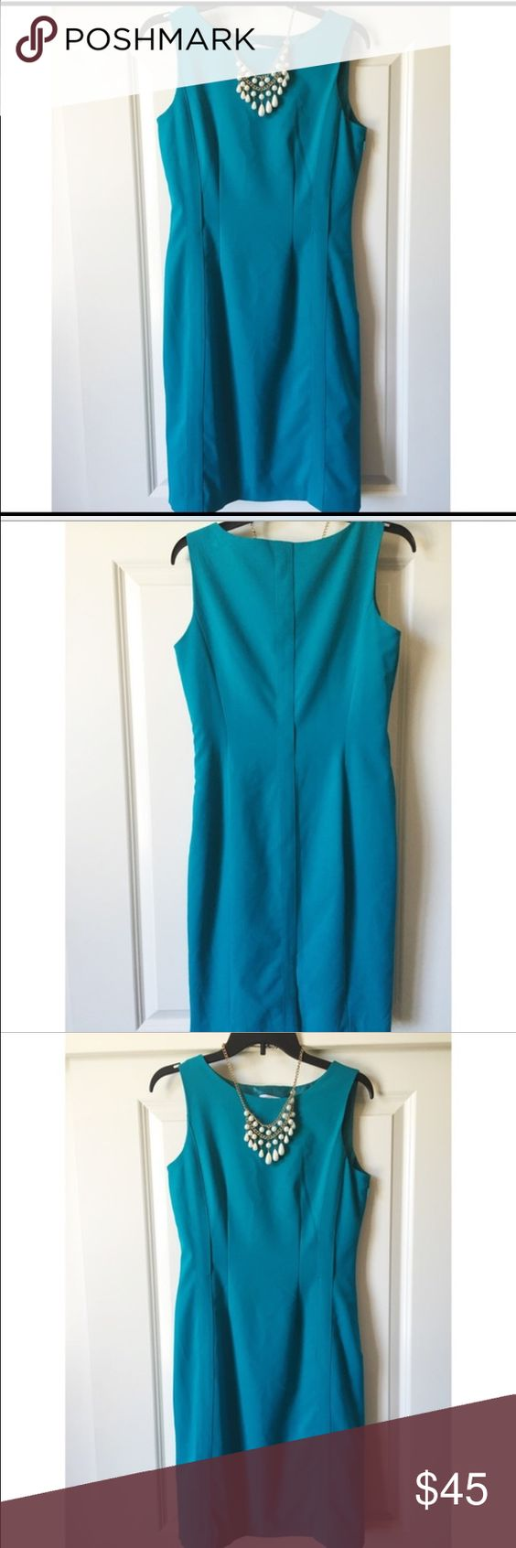 ✨Bright blue Calvin Klein dress✨ ✨Bright blue Calvin Klein dress with silk lining, zipper on side, and loops for optional belt. Must have!!!✨ Calvin Klein Dresses