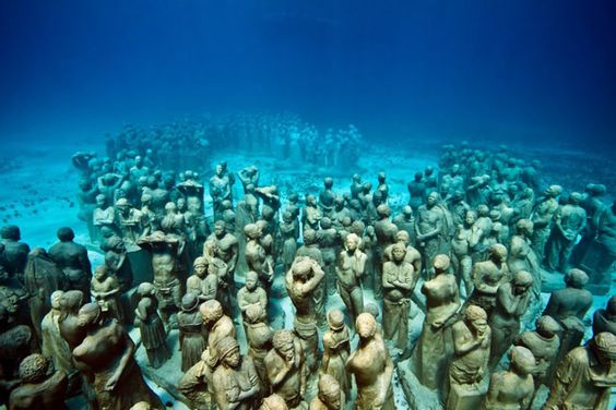 For fans of art visiting Cancun who want to dive www.gaytraveladvice.com recommends: Musa – Museo Subacuatico de Arte - Underwater Art Museum where you will find life-size sculptures underwater