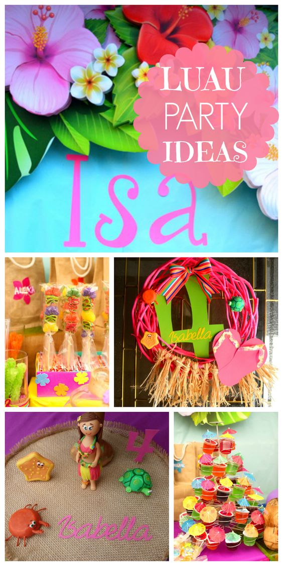 A Hawaiian luau girl birthday party with gorgeous, brightly colored decorations and floral backdrop!  See more party ideas at CatchMyParty.com!