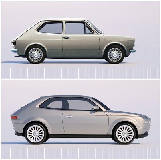 Bien-aimé a tribute to pio manzu - fiat 127 concept by david obendorfer  XA31