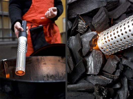 Looftligher can ignite anything from charcoal to wood in 60 seconds with the touch of a single button.