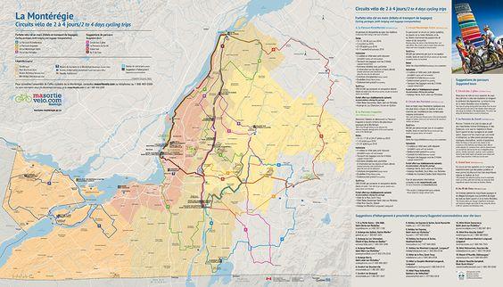 La Montérégie est divisée en quatre secteurs géographiques : le Suroît, la Rive-Sud, la Rivière Richelieu et la Montérégie-Est. Vous y trouverez des lieux d'hébergement chaleureux, des restaurants de qualité et de nombreux attraits touristiques typiques à notre région. Téléchargez la carte complète     Forfaits vélo        Suggestions