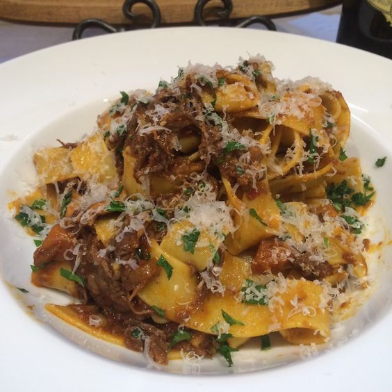 Braised Beef Short Rib Ragu over Pappardelle