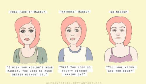 An honest look at why women wear makeup.