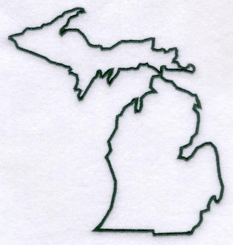 Michigan girly and embroidery library on pinterest for State outline tattoo