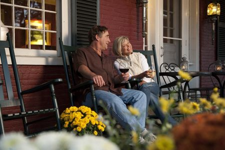GMI in Fall - Couple on Porch