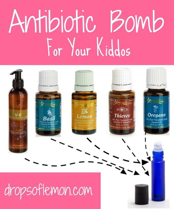 Young Living Essential Oils: Antibiotic for Children Kids Lemon, Thieves rolled…