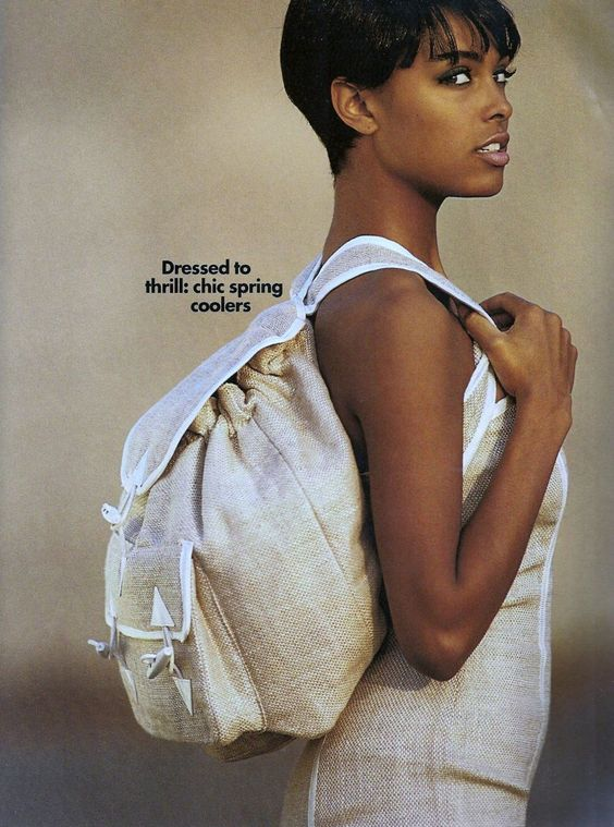 "US ELLE April 1991 ""The dress is it!"" Model: Lana Ogilvie, Photographer: Gilles Bensimon Stylist: Loren Laney"