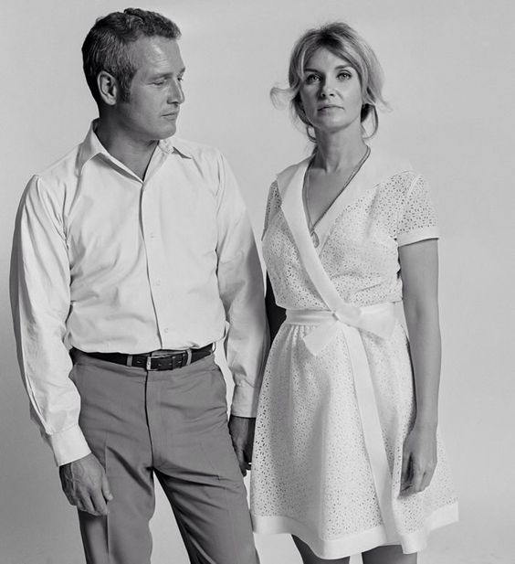 Paul newman and joanne woodward photographed by lawrence for Paul newman joanne woodward love story