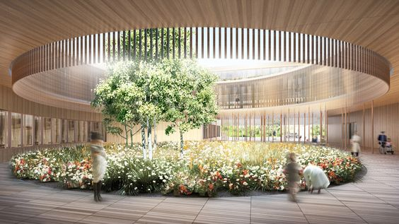 Children's Hospital Zurich by Herzog & de Meuron - So cool that this is a children's hospital.: