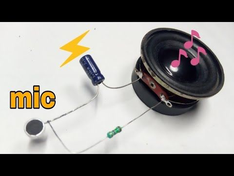 How To Connect Mic In Amplifier How To Make Mic Amplifier Youtube In 2020 Diy Electronic Kits Diy Electronics Mic