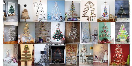 Árvores de Natal de parede!