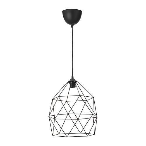 BRUNSTA HEMMA Pendant lamp, black, 12