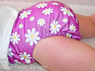 Happy Pink Flowers Cloth Diaper  awesome Blossom diaper
