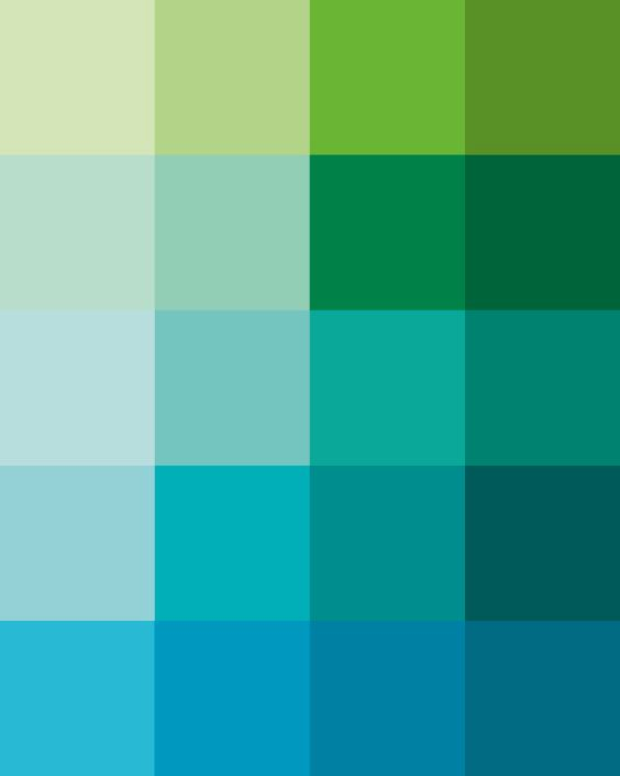 Shades dew art print pantone color blocks of mint green for Pintura verde aguamarina