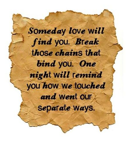 Someday Love Will Find You, I Promise