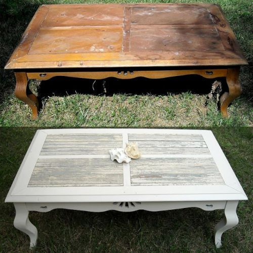 Coffee Table Missing Its Gl No Problem Replace It With Pallet Wood Upcycled Furniture Pinterest Pallets And