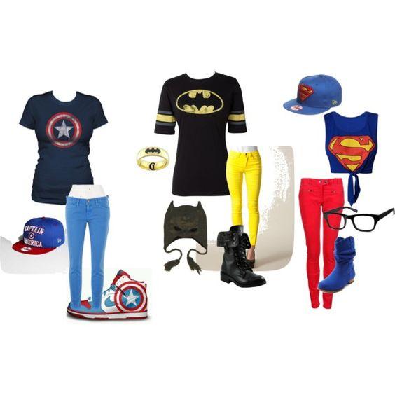 Super Hero outfits - Captain America, Batman, Superman