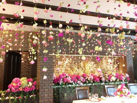 花 天井 吊るす 装花 の画像検索結果 花 天井