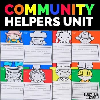 Community helpers, Graphic organizers and Puzzles on Pinterest