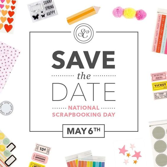 National Scrapbooking Day is right around the corner.  Mark your calendar for May 6th—join us for fun challenges, prizes, freebies and a day of crafting! #scnsd17 #studiocalico  #scrapbooking: