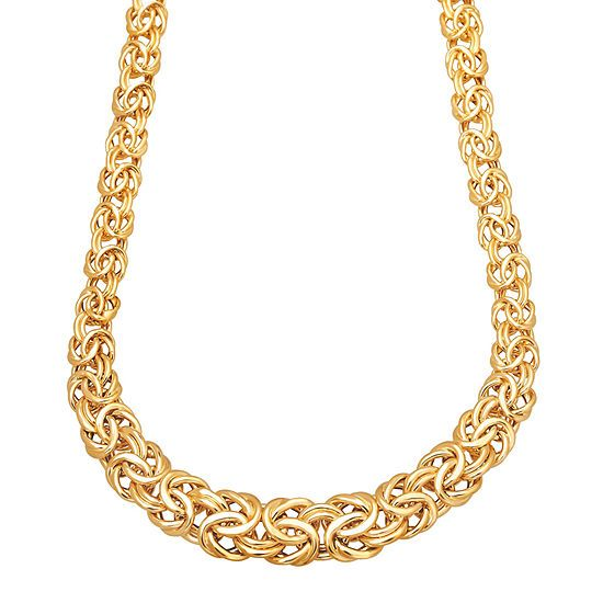 Made In Italy Womens 17 Inch 14k Gold Link Necklace Jcpenney Jcpenney Mayisgoldmonth Gold Necklace Gold Link Necklace Gold Chains For Men Link Necklace