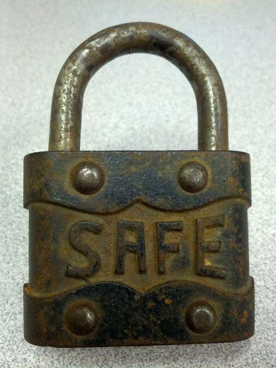 Vintage Safe Padlock By Dmerr On Etsy Cadeado Artesanato Lembrancinhas