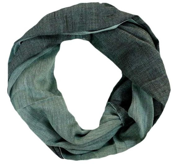 Black  Spearmint Infinity Scarf