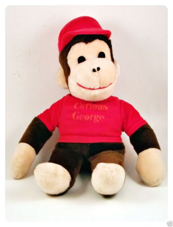 Curious George Monkey Plush Toy Doll In Red Hat With Images