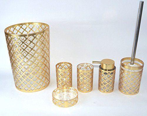 Daniels Geneva Gold 6 Piece Basket And Accessory Set Mit Bildern Badezimmer Zubehor Gold Bad Badezimmer Accessoires