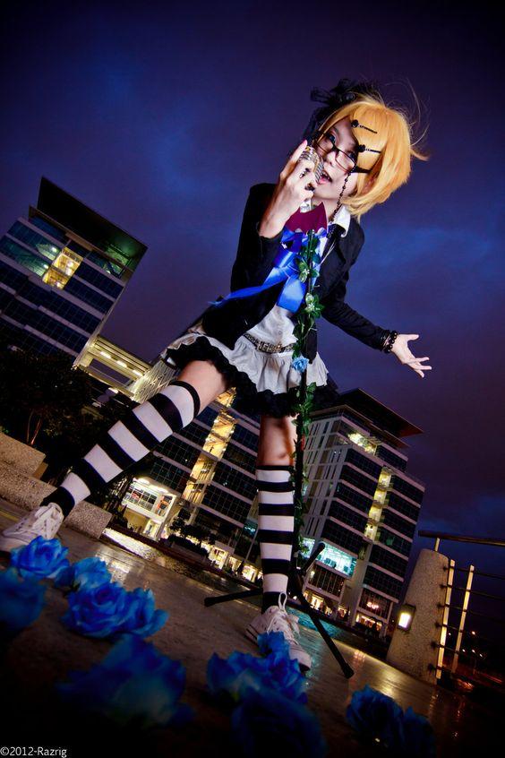 Vocaloid Kagamine Rin cosplay