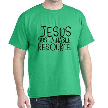 Jesus Sustainable Resource Christian Men's by 2DAPOINTAPPAREL