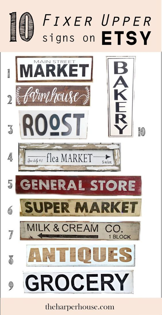 Fixer Upper Style Signs On Etsy Part 1 Style General