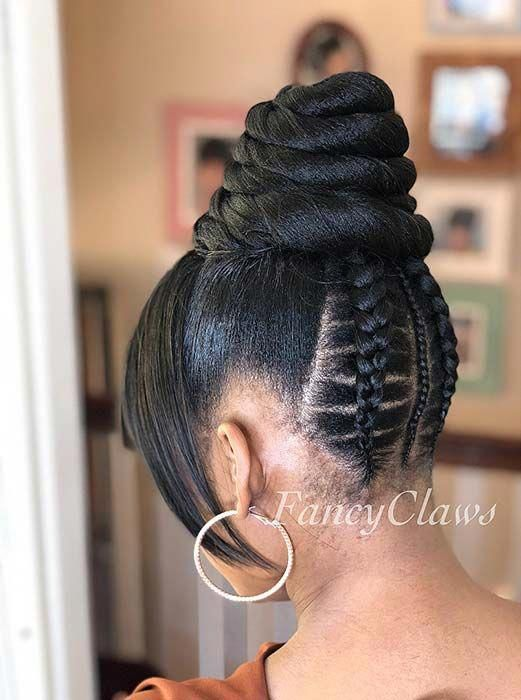 23 Braided Bun Hairstyles For Black Hair Page 2 Of 2 Stayglam Hair Styles Braided Bun Hairstyles Bun Hairstyles