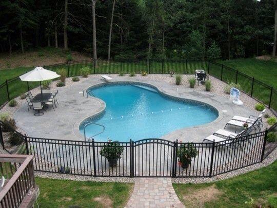 Walkway To Gate Pools Backyard Inground Inground Pool