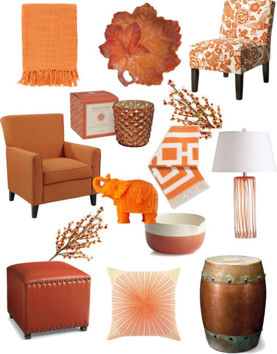 Burnt orange color inspiration bright bold and for Burnt orange and brown living room decor