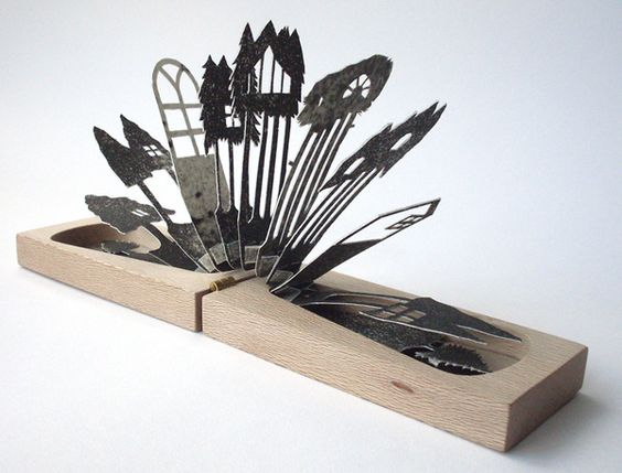 Wood and paper by Lizzie Thomas