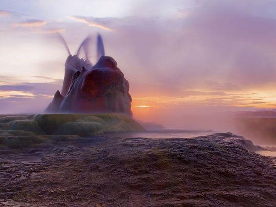 fly geyser, nevada: