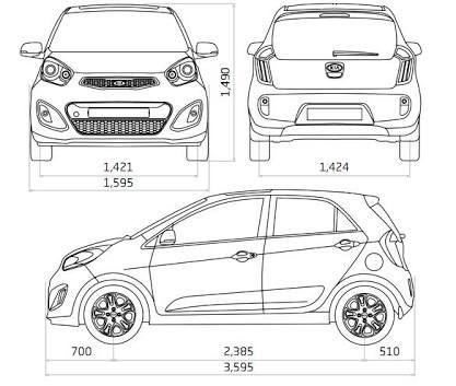 Medidas de autos en metros buscar con google ideas for Medidas de un carro arquitectura