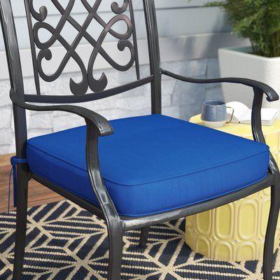 Mercury Row Indoor Outdoor Sunbrella Dining Chair Cushion Fabric Bay Brown Size 20 W X 20 D In 2020 Dining Chair Cushions Outdoor Lounge Chair Cushions Outdoor Chair Cushions