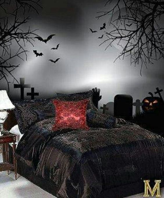 Goth bedroom♥