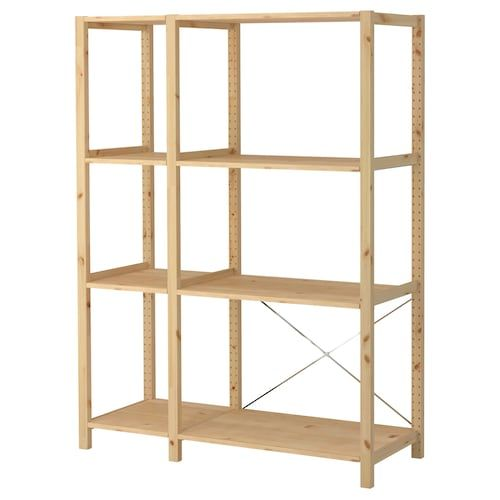 Ikea Ivar Pine Shelf Unit In 2020 Shelves Ikea Pine Shelves