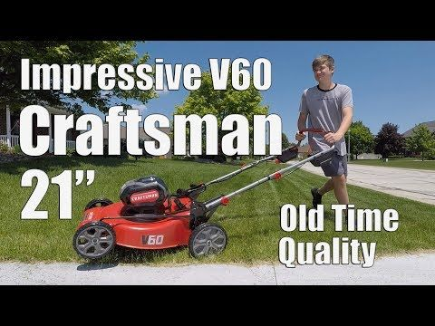 Craftsman V60 60 Volt Self Propelled 21 Inch Lawn Mower Review Model Cmcmw270z1 Youtube Self Propelled Mower Lawn Mower Stanley Black And Decker