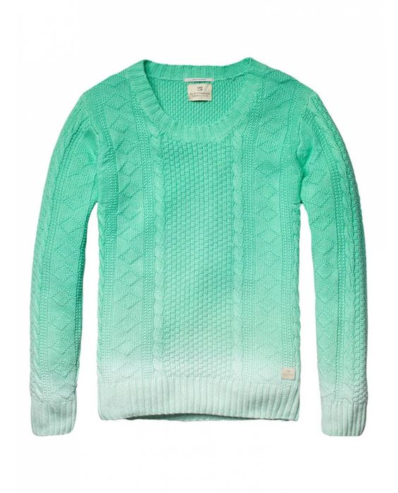 Cable knitted crew neck pull - Pullovers - Official Scotch & Soda Online Fashion & Apparel Shops