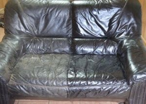 Half of it was treated with Leather Detergent and Leather Saver.