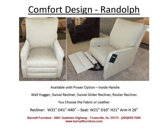 Comfort Design Randolph Recliner Available Wall Hugger