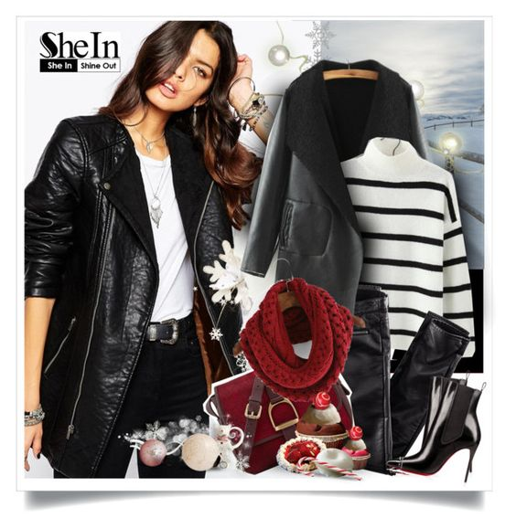 """""""SheIn.com - 4"""" by bebushkaj ❤ liked on Polyvore featuring Noisy May, H&M and Village England"""