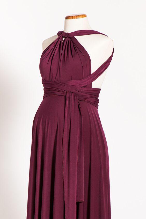 Marsala Maternity Infinity Dress, Long Maternity Dress, Maternity Wine dress, Maternity Convertible Dress, Ready to Ship Dress, Marsala by mimetik on Etsy https://www.etsy.com/listing/179535351/marsala-maternity-infinity-dress-long
